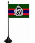 Royal Irish Regiment Desk / Table Flag with plastic stand and base.